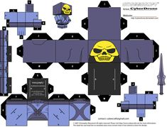 Cubee - Skeletor 'Classic' by CyberDrone on deviantART