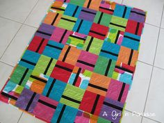 A Girl In Paradise: Solid as a Block Quilt