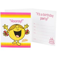 Party Supplies: Mr. Men and Little Miss Invitations
