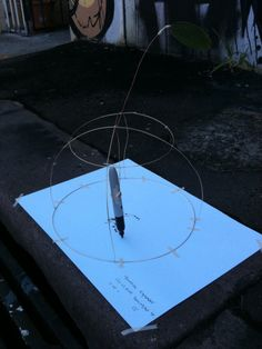 Week four : making wind drawing machine in tutorial class This week we began to create wind and wire drawing machines Nadia and Tega showed us through video in class. We had to construct a brass wi…