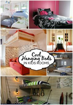 Way Cool Hanging Beds in Kids Rooms! Such an awesome idea! Check out all the ideas at Design Dazzle