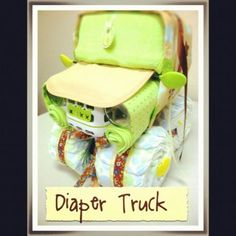 Cutest Baby Shower gift idea! http://www.etsy.com/listing/90265246/diaper-truck?ref=cat_gallery_8