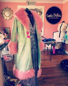 Festival coat made by Cookie DuBois of Cookie DuBois Clothing, Louisiana Festival Coats, Louisiana, Fur Coat, Cookie, Clothing, Jackets, Fashion, Outfits, Down Jackets