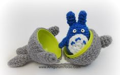 Medium Sized Totoro Pattern Two of Three for Stacking Set ~ Amigurumi To Go