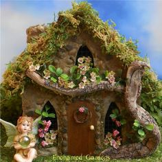 Posey Place Stone Fairy House