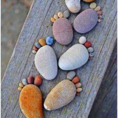 could be made as part of a cobblestone walkway