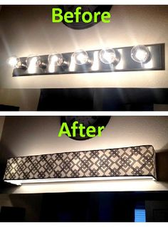 Vanity Light Shade Diy : 1000+ images about Bathroom - Lighting on Pinterest Lampshades, Custom vanity and Bathroom updates