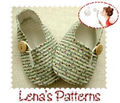 Baby Shoe Pattern -  Baby Tulip Loafers -  PDF Pattern - Newborn to 24 months. $4.50, via Etsy.