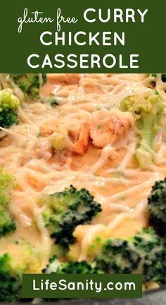 Gluten free curry chicken casserole