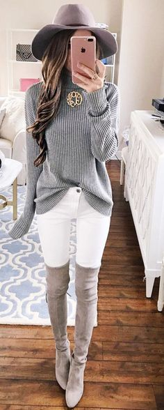 Mode Outfits Ideen 2019 Herbstmode Outfits Winter Outfits [a Fall Winter Outfits, Autumn Winter Fashion, Summer Outfits, Casual Outfits, Winter Boots, Winter Wear, Dress Casual, Casual Jeans, 2016 Winter