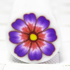 Purple Polymer Clay Flower cane by sigalsart on Etsy, $6.90