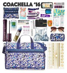 """Coachella Creature Comforts"" by rachael-aislynn ❤ liked on Polyvore featuring beauty, Orelia, Maison Margiela, tarte, Korres, Pacifica, LeSportsac, Polaroid, Evian and River Island"
