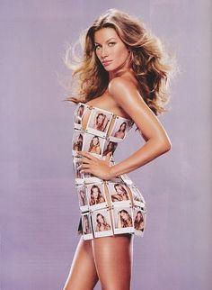 gisele h&m summer 2011 90s Fashion, Retro Fashion, Fashion Models, High Fashion, Vintage Fashion, Gisele Bundchen, Behati Prinsloo, 90s Models, Elsa Hosk