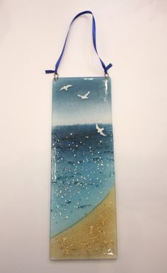 Glass seagull hanging