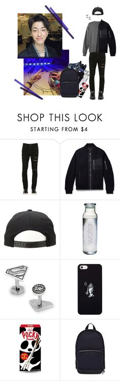 """† W.Nizer - In the bowling with Hyunkyo †"" by ulzz-nara ❤ liked on Polyvore featuring Giorgio Brato, Gant Rugger, Cufflinks, Inc., October's Very Own, Haerfest, adidas, men's fashion and menswear"