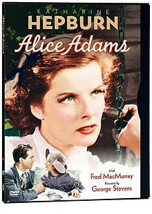 Alice Adams //   Directed by	George Stevens  Produced by	Pandro S. Berman  Written by	Dorothy Yost, Mortimer Offner, and Jane Murfin  Starring	Katharine Hepburn  Fred MacMurray  Fred Stone  Evelyn Venable  Music by	Max Steiner and Roy Webb  Cinematography	Robert De Grasse  Editing by	Jane Loring  Studio	RKO Radio Pictures  Distributed by	RKO Radio Pictures  Release date(s)	August 15, 1935