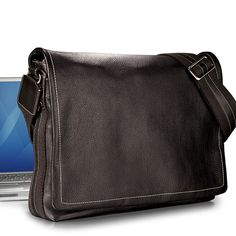 78bef0f4dffb A spacious leather messenger bag and laptop carrier. Our sleek Bomber  Jacket leather messenger bag and laptop carrier allows you to keep both  hands free ...