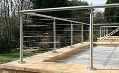 stainless steele outdoor balustrade ideas - Google Search