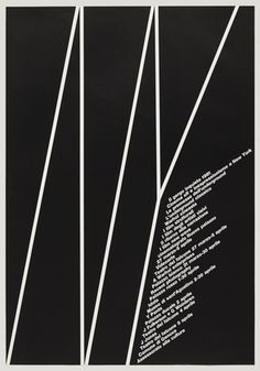 """Il Gergo Inquieto  Poster  Designer: AG Fronzoni  Year: 1980  Printing method: Lithograph  Collection: Museum of Modern Art  Dimensions:  Height: 980 mm / 38 9/16""""  Width: 680 mm / 26 3/4"""""""