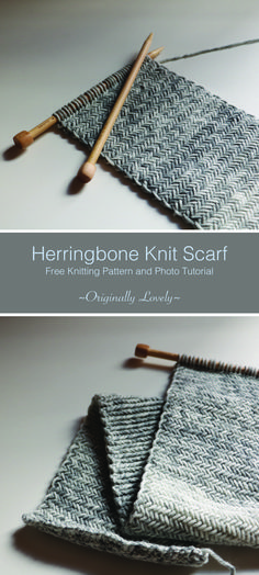 .Free Knitting Pattern | Herringbone Knit Scarf | Originally Lovely.