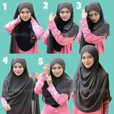 Chiffon Wide Shawl Hijab Tutorial. A new way to cater your hijab style for modest look. #hijab #islam