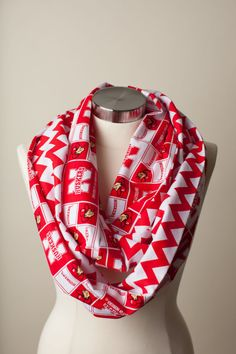 Hey, I found this really awesome Etsy listing at https://www.etsy.com/listing/181370122/nebraska-cornhuskers-infinity-scarf