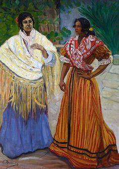 Francisco  ITURRINO -  Peintre espagnol 1864-1928  +  Deux Gitanes -1901/03  Francisco Albert ALBUSAC   - Artiste espagnol résidant à Londres + Flamenco Digital artwork Francisco MORENO GALVAN - 1925 - 1999) - artiste peintre et poète espagnol. + Flamenca Francisco...