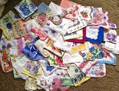 gathering hankies for the wedding  (Garden Of Daisies)