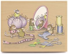 House Mouse Mounted Rubber Stamp Sew Co : for Sewing Area Coloring Books, Coloring Pages, Colouring, Sewing Clipart, House Mouse Stamps, Mouse Pictures, Mouse Color, Cute Mouse, Tatty Teddy
