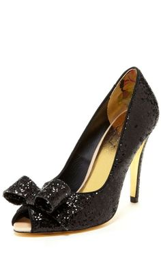 Sequin Bow Pumps ♥....for the LBD.