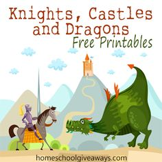 Homeschool Giveaways has a pile of FREE Knights, Castles and Dragons Printables for you! She even included some princess printables for your litt