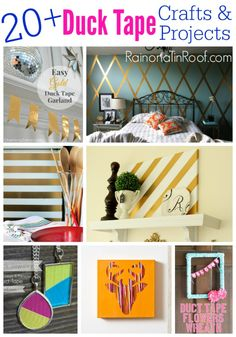 20+ Duct Tape Crafts & Projects... totally want to duct tape my wall!  Love the harlequin pattern!