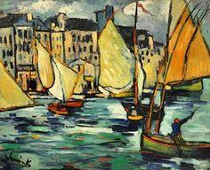 Maurice de Vlaminck (1876-1958) Le Havre: Le Grand Quai (1906-1909) oil on canvas