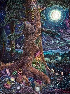 Jonathan Solter is a visionary artist specializing in higher dimensional travel, ancient civilizations and animism. His beautifully depicted scenes hold resonance with psychonauts and transcendental meditators alike.