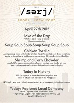 Today's joke (in honor of Monday) is about the higher education of cows + Chicken Tortilla Soup & hijinx @serjbooks