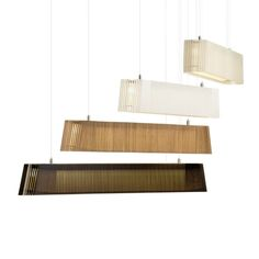 OWALO - Suspension LED Bois Naturel L100cm Secto Design
