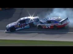 ▶ NASCAR Crash | Elliot Sadler and Brett Butler make contact at Chicagoland (2013) - YouTube
