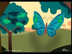 Breathing exercise w video of butterfly wings opening & closing and guided instructions #kidsyoga #pranayama #calm