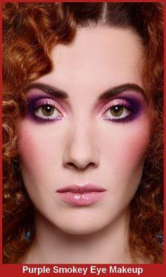 Purple Smokey Eye Makeup For Brown Eyes    #MakeupTips #EyeMakeup #MakeupTutorial