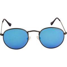 4d015522f75f Farenheit Grey Frame With Polarized Sky Blue Lens Unisex Round Sunglasses
