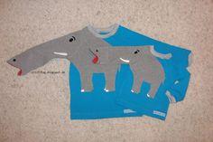 """Die Idee für diese Shirts habe ich wieder einmal von aennie  """"geklaut"""". Für meine Freundin habe ich zur Geburt ihres 2. Sohnes ein Mini-Elef..."""
