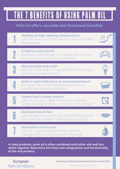 The Benefits of Using Palm Oil // Infographic