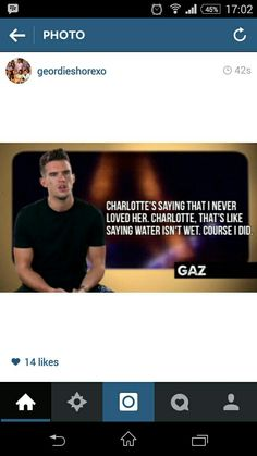 Geordie Shore proof that he always loved her, can't wait for next week