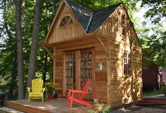 Stylish Prefab Cabin Kits for Sale - Build Your Dream Cabin Kits For Sale, Log Cabin Kits, Prefab Cabin Kits, Prefab Cabins, Cabin Ideas, Pool Shed, Backyard Sheds, Shed Plans, Cabin Plans