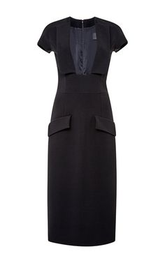 Power Viscose Plunge Dress by CUSHNIE ET OCHS Now Available on Moda Operandi
