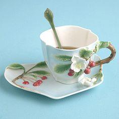 Two's Company Cherry Tea Set