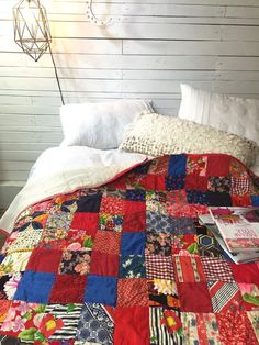 Vintage Quilt Bohemian Bedding Distressed Homemade by BohoCircus