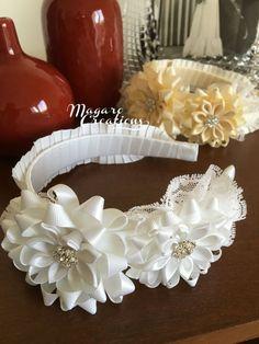 Blanco diadema diademas accesorio del pelo de por MagaroCreations