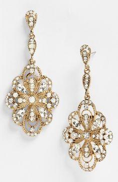 Nordstrom Tasha $32 http://shop.nordstrom.com/S/tasha-ornate-large-drop-earrings/3581043?origin=related-3581043-60140550-1-1-2-RR&PageCategoryId=PP&fashionColor=EMERALD+MULTI/+ANTIQUE+GOLD