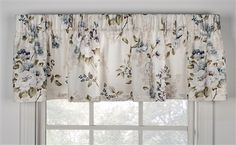 Chatsworth Floral Print Tailored Panels Window Curtains with Tie Backs - Window Toppers Valance Curtains, Curtains, Decorating Shelves, Window Curtains, Window Toppers, Curtain Styles, Curtains For Sale, Bow Window, Valance Window Treatments